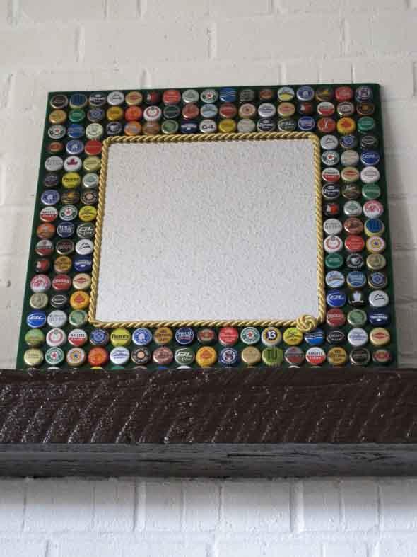 Decore sua casa com tampinhas de garrafas 011
