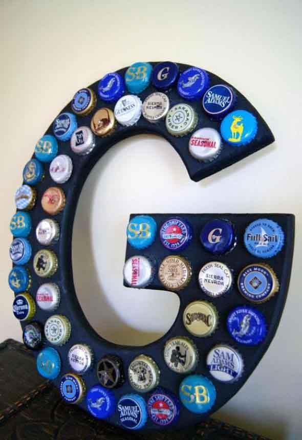 Decore sua casa com tampinhas de garrafas 012
