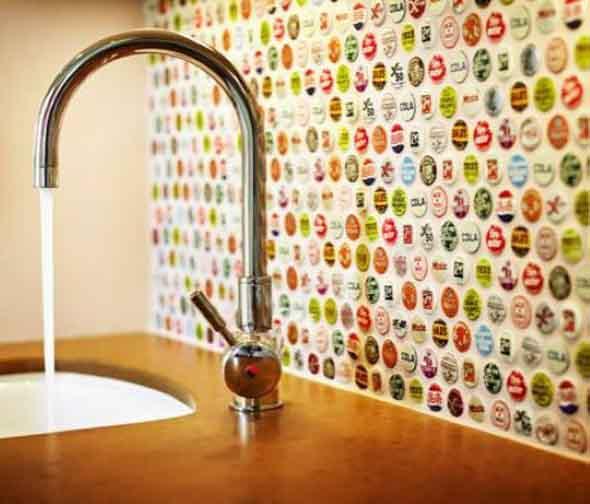 Decore sua casa com tampinhas de garrafas 016