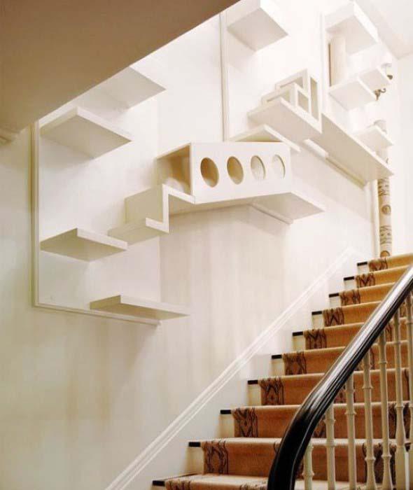 Escadas para gatos nas paredes 002
