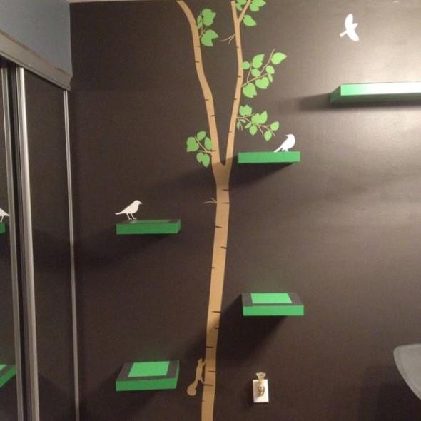 Escadas para gatos nas paredes 013