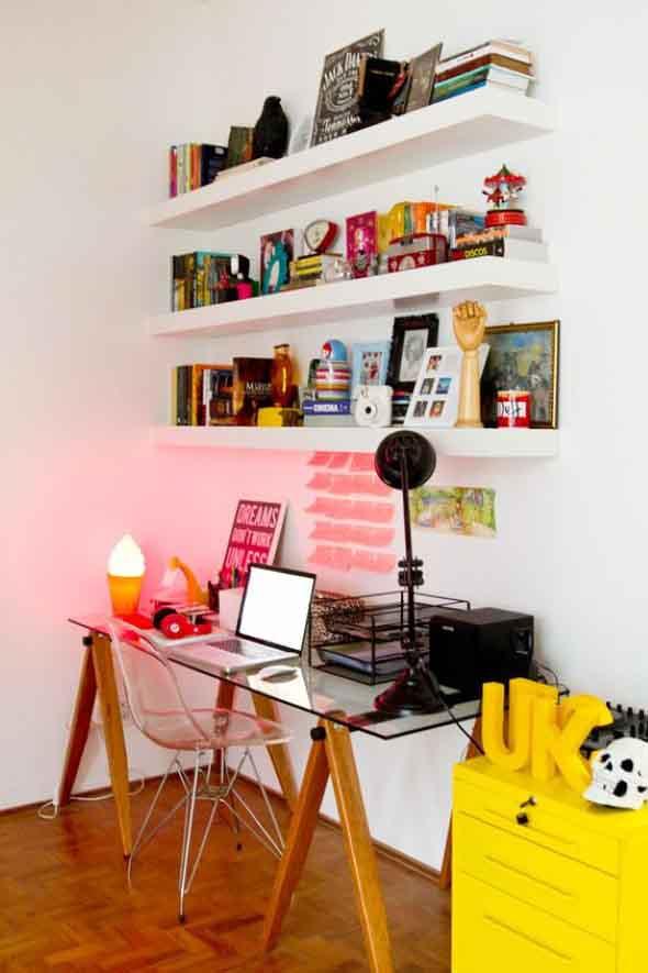 Escrivaninhas com tampo de vidro 012