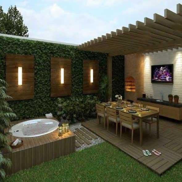 Modelos de rea de lazer pequena for Modelos de patios de casas pequenas
