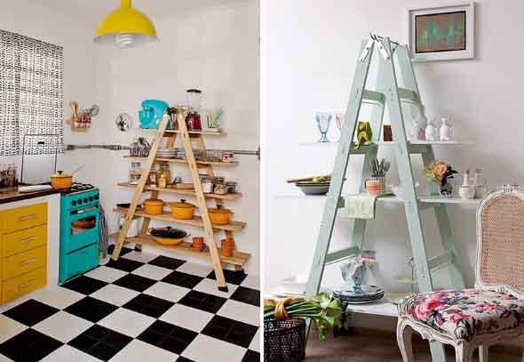 Diversos usos para escadas dentro de casa 002