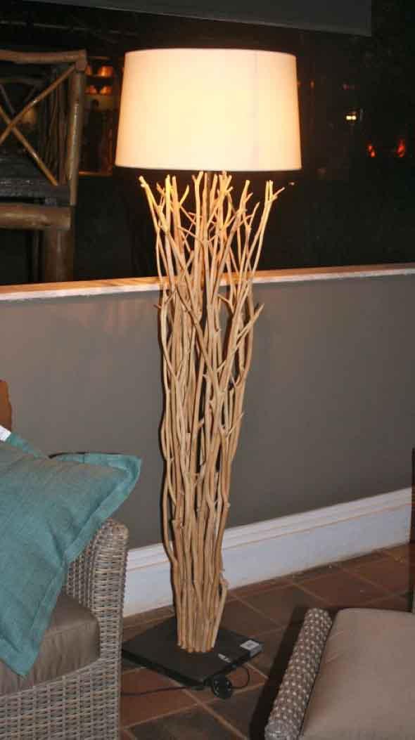 Luminárias e pendentes de galhos secos 003