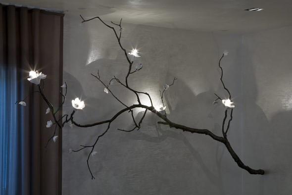 Luminárias e pendentes de galhos secos 007