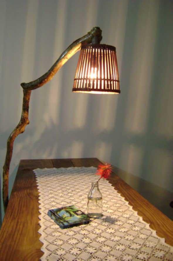 Luminárias e pendentes de galhos secos 009