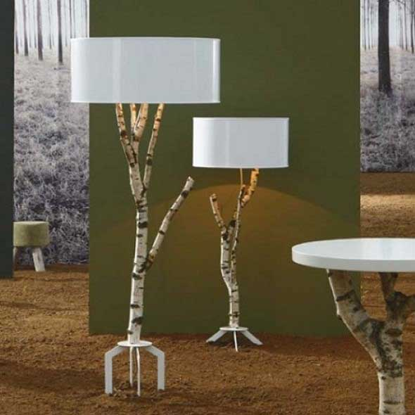 Luminárias e pendentes de galhos secos 013