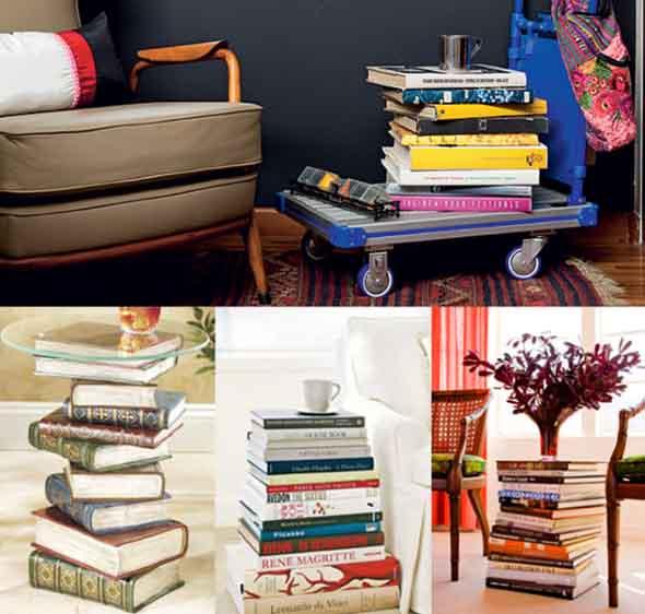 Como usar livros na decoração 003