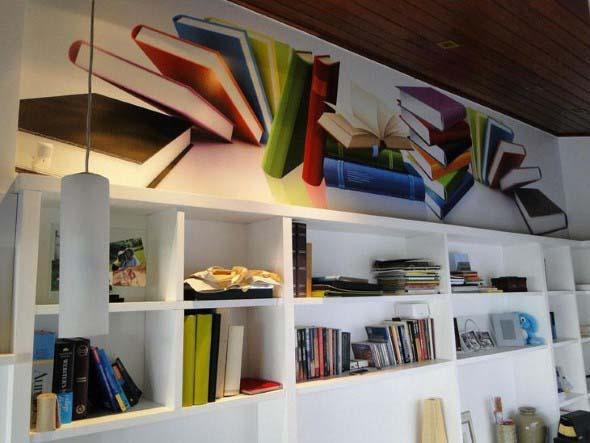 Como usar livros na decoração 012
