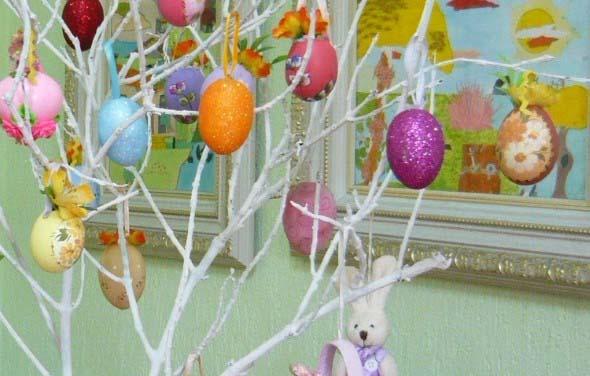Ovos de páscoa na decoração 016