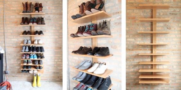 Prateleiras de calçados verticais 001