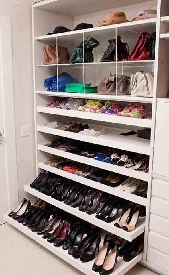 Prateleiras de calçados verticais 003