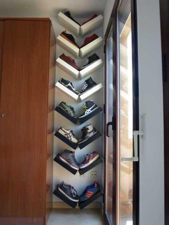 Prateleiras de calçados verticais 005