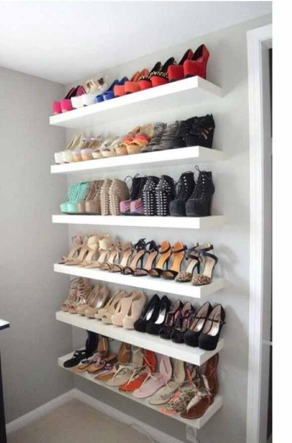 Prateleiras de calçados verticais 006