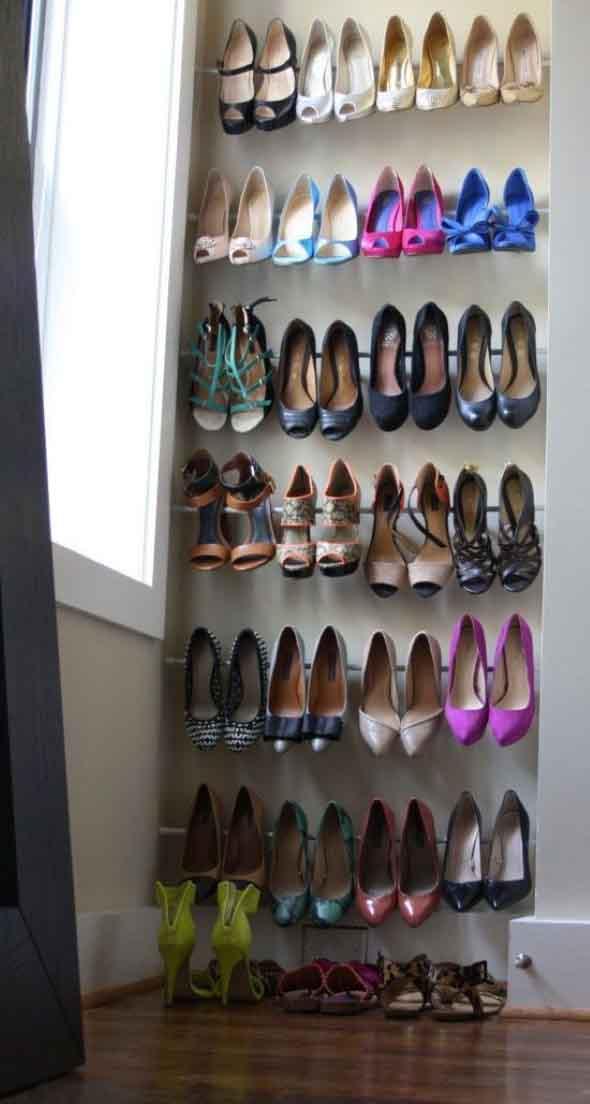 Prateleiras de calçados verticais 007