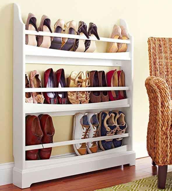 Prateleiras de calçados verticais 009