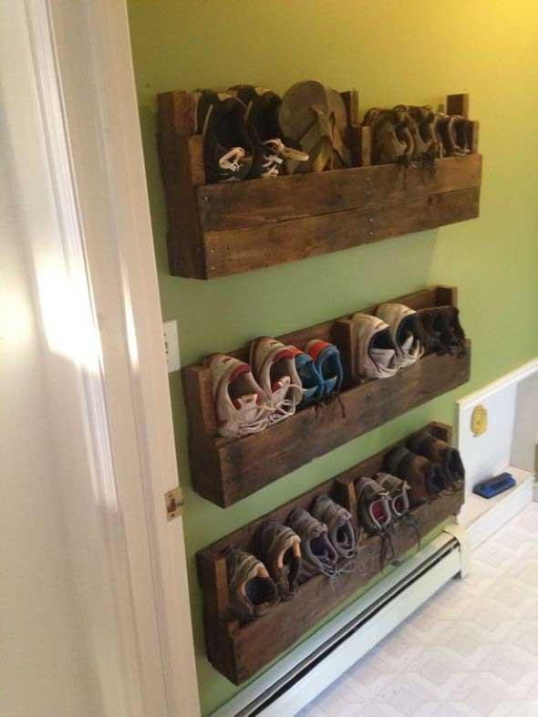 Prateleiras de calçados verticais 010