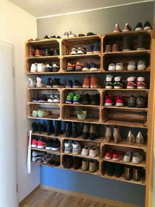 Prateleiras de calçados verticais 012