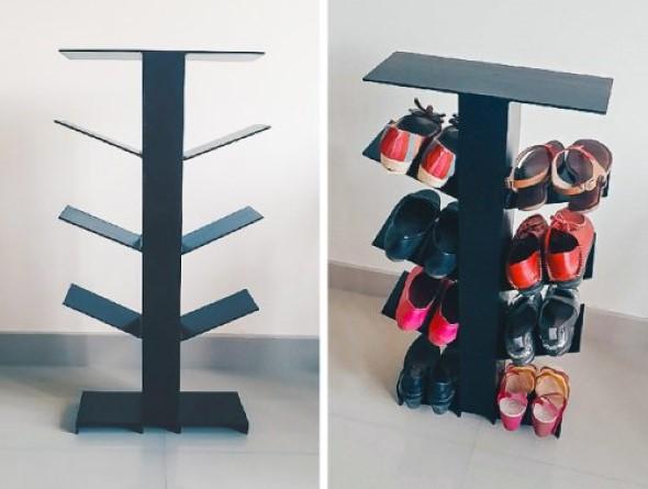 Prateleiras de calçados verticais 013