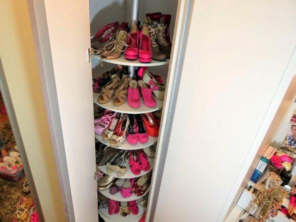 Prateleiras de calçados verticais 014