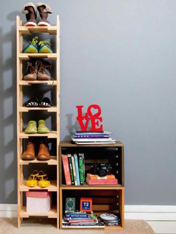 Prateleiras de calçados verticais 017