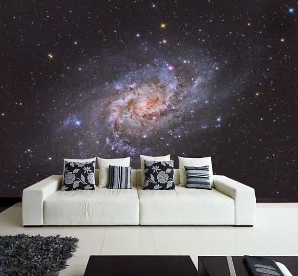 Decoração inspirada em planetas e galáxias 001