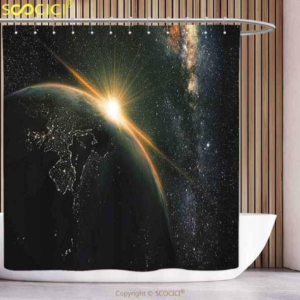 Decoração inspirada em planetas e galáxias 002