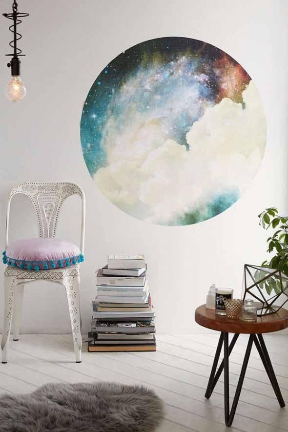 Decoração inspirada em planetas e galáxias 003