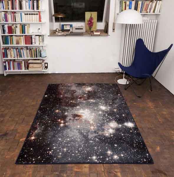 Decoração inspirada em planetas e galáxias 004