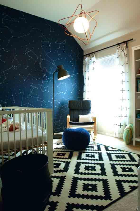 Decoração inspirada em planetas e galáxias 005