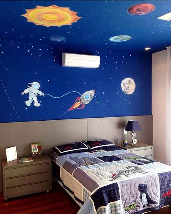Decoração inspirada em planetas e galáxias 010