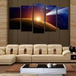 Decoração inspirada em planetas e galáxias 011