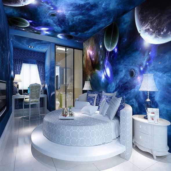 Decoração inspirada em planetas e galáxias 014