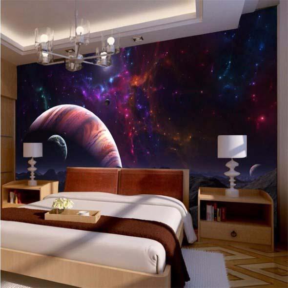 Decoração inspirada em planetas e galáxias 017