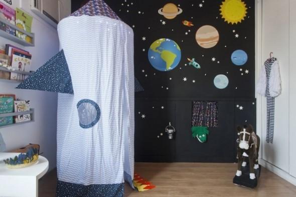 Decoração inspirada em planetas e galáxias 018