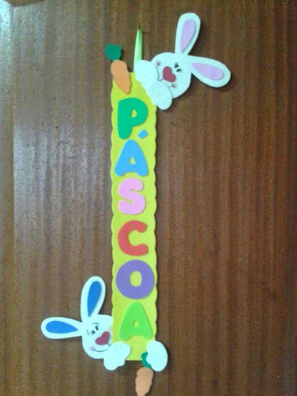 Enfeites de porta para Páscoa 012