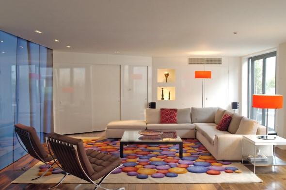 Tapetes coloridos na decoração 002