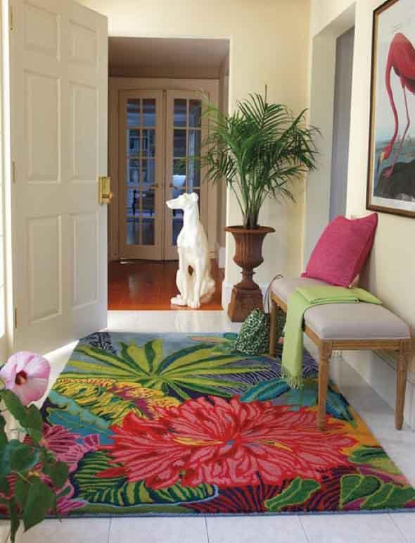 Tapetes coloridos na decoração 003