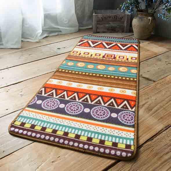 Tapetes coloridos na decoração 011
