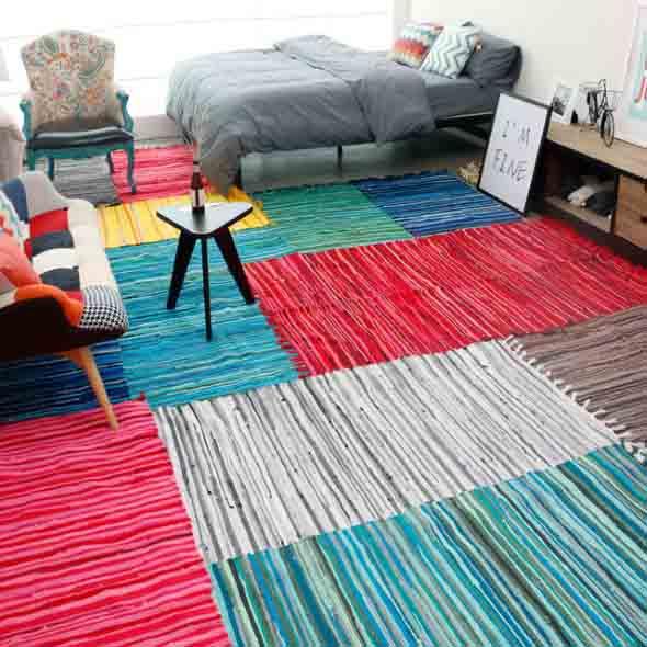 Tapetes coloridos na decoração 013