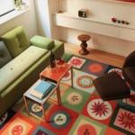 Tapetes coloridos na decoração 07
