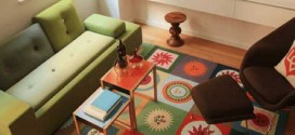 Tapetes coloridos na decoração