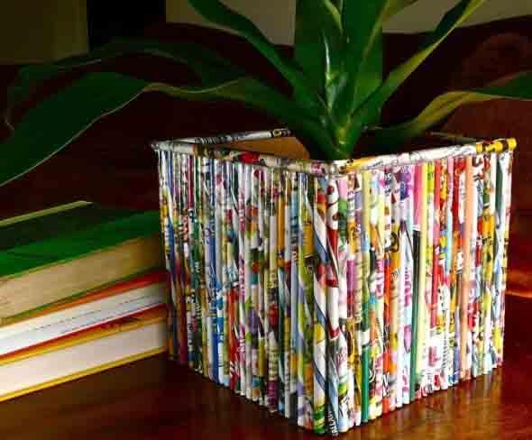 Criatividade com revistas, quadrinhos e jornais 009