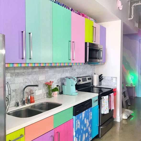 Rainbow Kitchen Decor: Decorar Ambientes Com As Cores Do Arco-íris