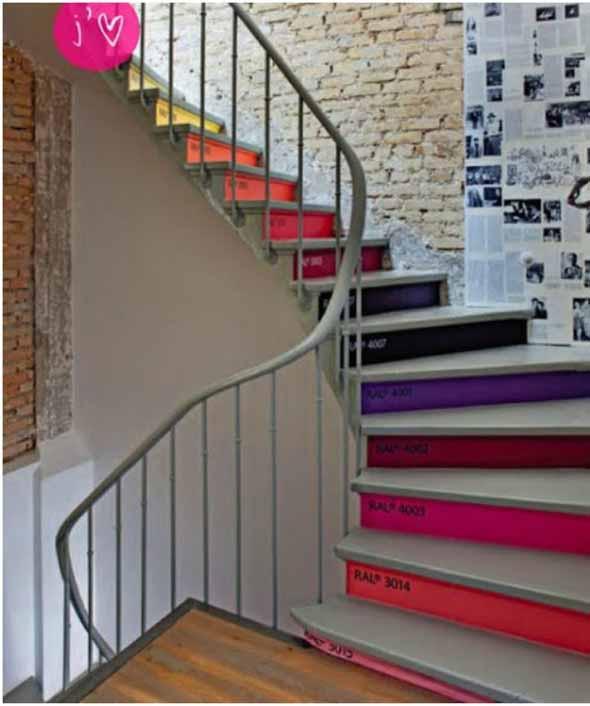 Escadas coloridas 002