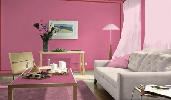 Inspiração com tons de rosa na decoração 001