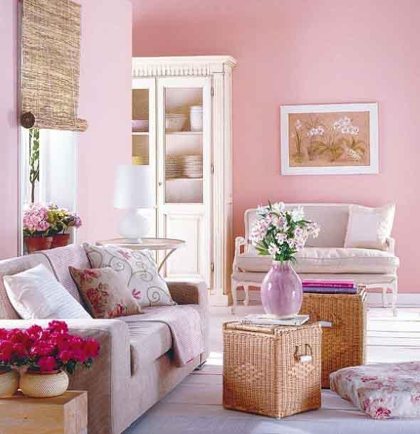 Inspiração com tons de rosa na decoração 002