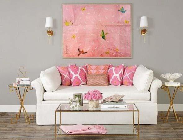 Inspiração com tons de rosa na decoração 003
