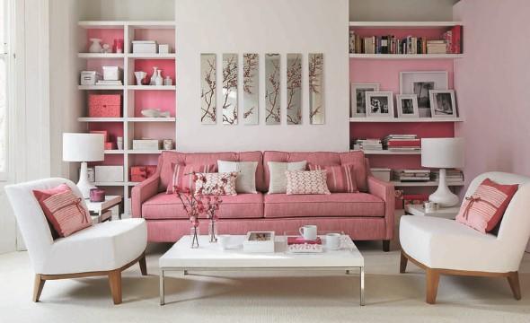 Inspiração com tons de rosa na decoração 004